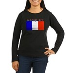 Gasquet France Flag Women's Long Sleeve Dark T-Shi