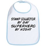 Stamp Collector Superhero Bib