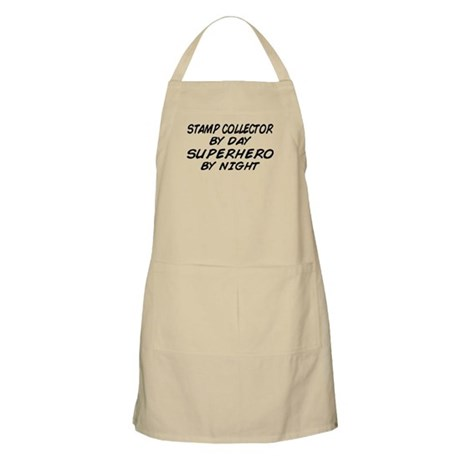 Stamp Collector Superhero BBQ Apron