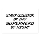Stamp Collector Superhero Postcards (Package of 8)