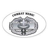 CMB Combat Medic Oval Decal