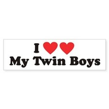 I Heart My Twin Boys - Twin Bumper Bumper Sticker