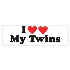I Heart My Twins - Twin Bumper Bumper Sticker