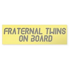 Fraternal Twins On Board - Twin Bumper Bumper Sticker