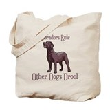 Chocolate Labradors Rule Other Dogs Drool Tote Bag