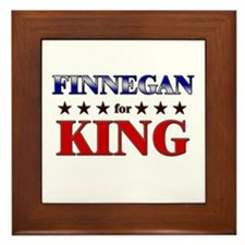 FINNEGAN for king Framed Tile