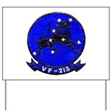VF 213 Black Lions Yard Sign