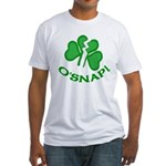 O'Snap Funny Shamrock Fitted T-Shirt
