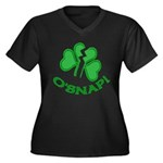 O'Snap Funny Shamrock Women's Plus Size V-Neck Dar