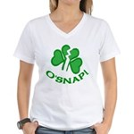 O'Snap Funny Shamrock Women's V-Neck T-Shirt