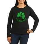 O'Snap Funny Shamrock Women's Long Sleeve Dark T-S