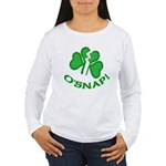 O'Snap Funny Shamrock Women's Long Sleeve T-Shirt