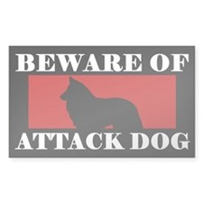 Beware of Attack Dog Groenendael Decal