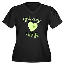 Navy wife  Women's Plus Size V-Neck Dark T-Shirt
