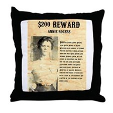 Annie Rogers $ Reward Throw Pillow