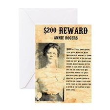 Annie Rogers $ Reward Greeting Card