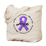 Purple Ribbon of Hope Tote Bag