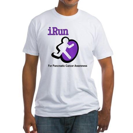 iRun for Pancreatic Cancer Awareness Fitted T-Shir