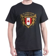 Number One Canadian Grandpa T-Shirt