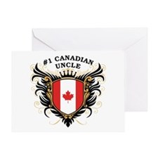 Number One Canadian Uncle Greeting Card