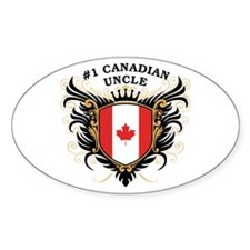 Number One Canadian Uncle Oval Decal