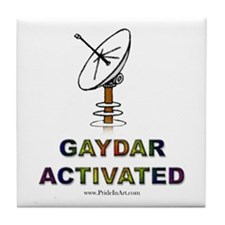 Gaydar Activated Tile Coaster