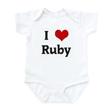 I Love Ruby Infant Bodysuit