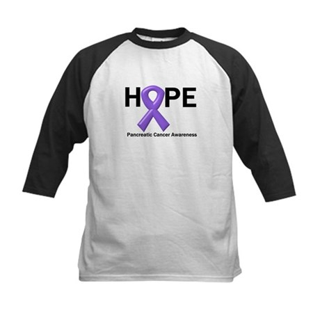 Hope-Pancreatic Cancer Kids Baseball Jersey