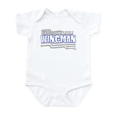 Daddy's little wingman (blue) Infant Bodysuit