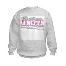 Daddy's little wingman (pink) Sweatshirt