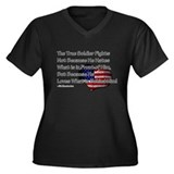 The True Soldier Women's Plus Size V-Neck Dark T-S