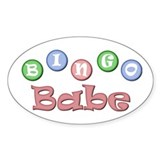 Bingo Babe Oval Decal