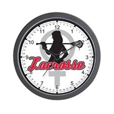 Womens Lacrosse Wall Clock