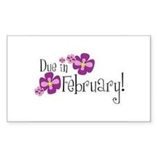 Due In February! Rectangle Decal