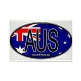 Australia Oval Colors Rectangle Magnet