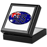 Australia Oval Colors Keepsake Box