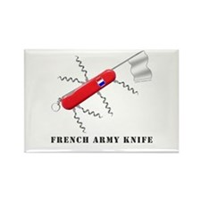 French Army Knife Rectangle Magnet