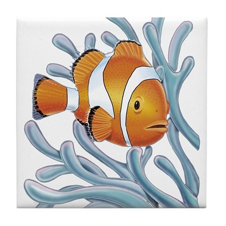 Clown Fish and Coral Tile Coaster