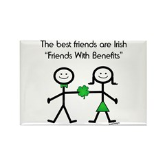 Irish Friends With Benefits Rectangle Magnet