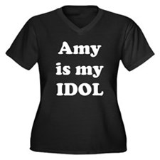 Idol love Women's Plus Size V-Neck Dark T-Shirt