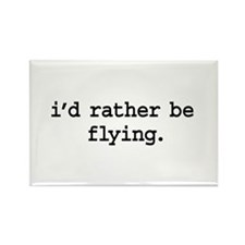 i'd rather be flying. Rectangle Magnet