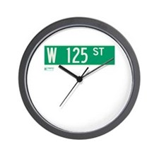 125th Street in NY Wall Clock