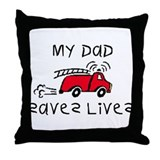 My Dad Saves Lives Throw Pillow
