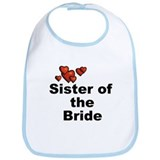 Hearts Sister of the Bride Bib