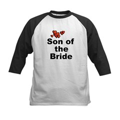 Hearts Son of the Bride Kids Baseball Jersey