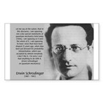 Erwin Schrodinger: Physics Rectangle Sticker