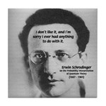 Erwin Schrodinger: Physics Tile Coaster