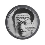 Erwin Schrodinger: Physics Wall Clock