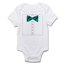 green bow tie tuxedo Infant Bodysuit