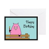Birthday Pig Greeting Card